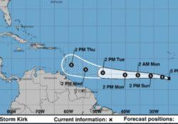 Kirk resurge como tormenta tropical y amenazaría a Puerto Rico