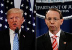 Trump pospone reunión con Rosenstein a la próxima semana
