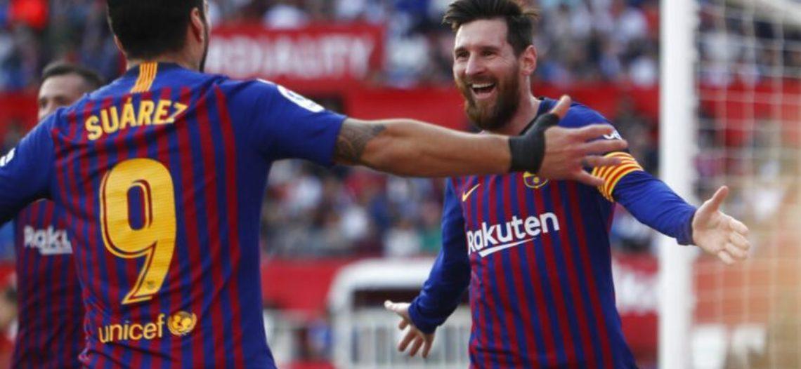 Con triplete de Messi, el Barcelona impone su ley en Sevilla