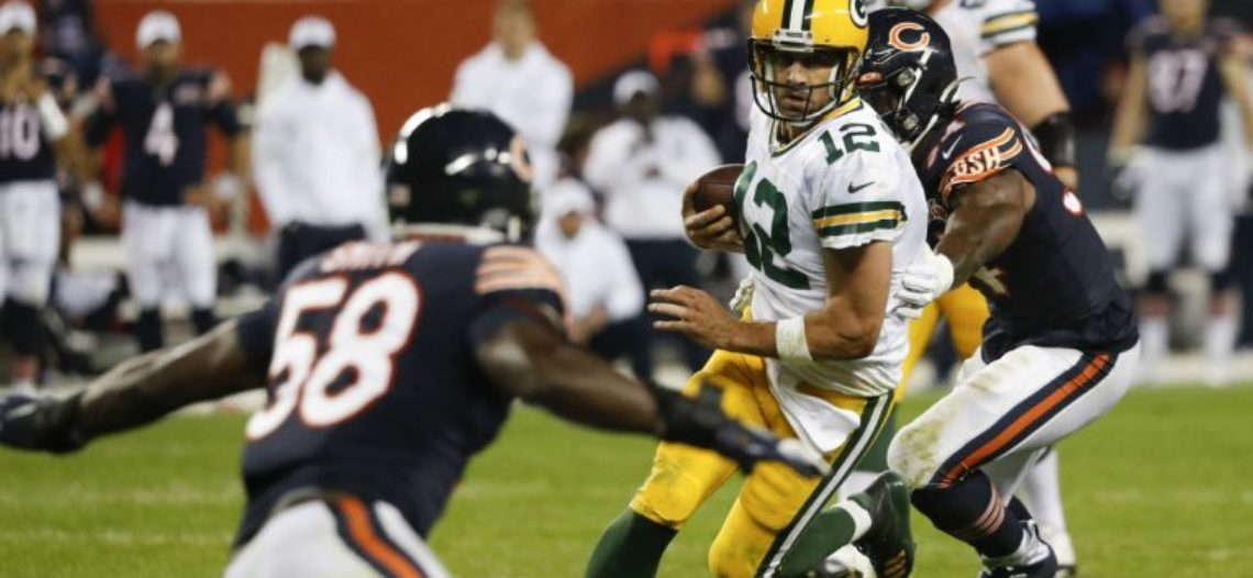 Rodgers y la defensiva llevan a Packers a triunfo ante Bears