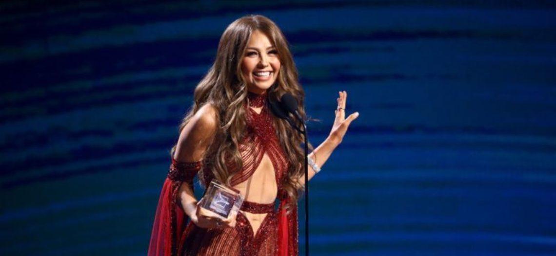 Thalía homenajeada en los Latin Grammy
