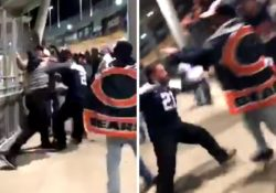 Aficionados de los Chicago Bears generan violencia en el Soldier Field