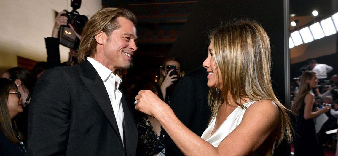 Brad Pitt y Jennifer Aniston se muestran cariñosos en los SAG
