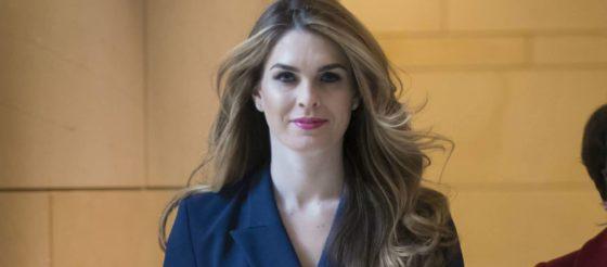 Hope Hicks regresa a la Casa Blanca
